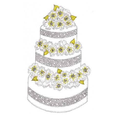 Beautiful Cake Mini Gift Enclosure