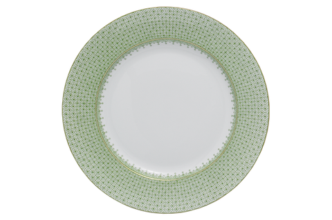 Apple Green Lace Dinner Plate