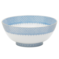Cornflower Blue Lace Round Bowl