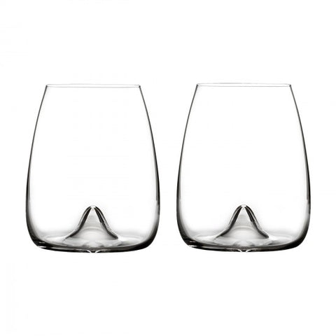 Elegance Stemless Wine Glass, Set of 2
