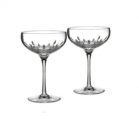 Lismore Essence Champagne Saucer, Pair