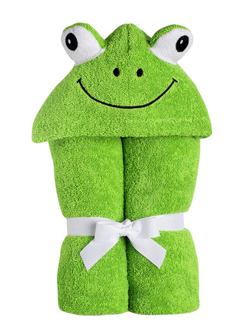 Frankie Frog Hooded Towel