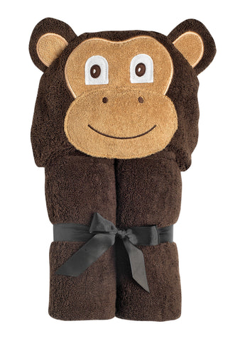Micah Monkey Hooded Towel