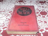 ANTIQUE ACTION ADVENTURE BOOK RED & BLACK BY: GRACE RICHMOND 1ST ED C 1919 - Back from the dead antiques
