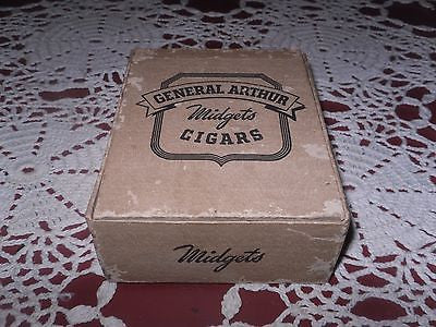 ANTIQUE CIGAR BOX GENERAL ARTHUR MIDGETS CIGARS - Back from the dead antiques