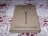 VINTAGE CIVICS BOOK EVERYDAY CIVICS COMMUNITY,STATE,NATION CHARLES FINCH C 1925