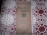 VINTAGE AUTOMOBILE ROAD MAP NEW YORK & CANADA TOURING CLUB OF AMERICA C 1911