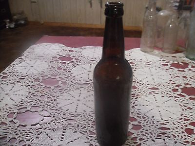 ANTIQUE BEER BOTTLE HUDSON NEW YORK EVANS ALE 1890--1900 DARK AMBER - Back from the dead antiques