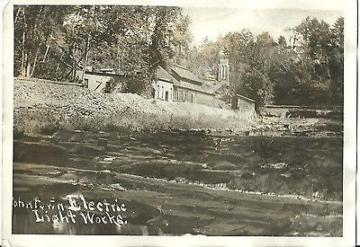 ANTIQUE PHOTO JOHNSTOWN PENNSYLVANIA ELECTRIC LIGHT WORKS FACTORY 1920'S - Back from the dead antiques