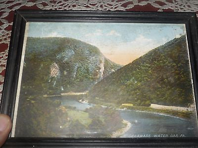 ANTIQUE PHOTO RPPC PHOTO DELAWARE WATER GAP ENLARGED COLORIZED 1930--1940 - Back from the dead antiques