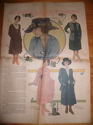 ANTIQUE WOMENS DRESS FASHION ADVERTISING MISS SIXTEEN BEST OFFERINGS C 1917 RARE