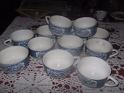 "12 Currier & Ives Coffee Cups ""Fashionable Turnouts"" Horse and Buggy - Back from the dead antiques"