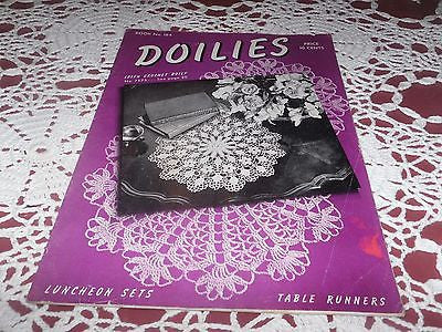 VINTAGE CROCHET BOOK DOILIES IRISH CROCHET TABLE RUNNERS PATTERNS C 1942