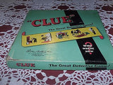 VINTAGE BOARD GAME CLUE THE GREAT DETECTIVE GAME PARKER BROTHERS 1950 PIECES