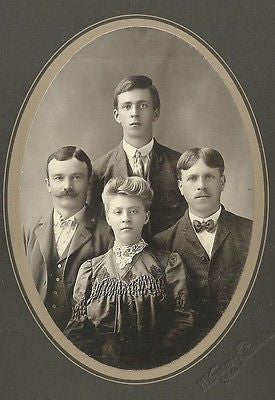 CABINET PHOTO CHARMING WELL DRESSED FAMILY POSING HOUTZDALE PENNSYLVANIA - Back from the dead antiques