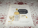VINTAGE LIQUOR BOOTH'S DRY GIN PRINT AD 1950'S
