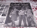 VINTAGE JACK FROST MAGAZINE SWEATERS MITTENS BOYS & GIRLS 1947 GREAT FASHION