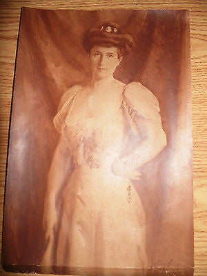 ANTIQUE ART PRINT BY LISTED ARTIST JULIAN STORY C 1907 OIL CLOTH - Back from the dead antiques
