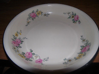 VINTAGE OVENWARE BAKEING DISH PAN ROSE PATTERN 10 3/4 INCH