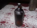 "Vintage 1931 Amber Glass Clorox 15oz ""Pint"" Bottle 7 10/16th Inches Tall"