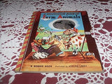 VINTAGE CHILDREN'S BOOK A TELEVISION BOOK OF FARM ANIMALS BONNIE BOOK C 1949