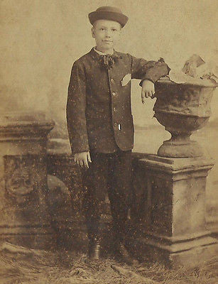 CABINET PHOTO HANDSOME WELL DRESSED YOUNG  BOY HARRISON TURNER REDFORTH VIRGINIA - Back from the dead antiques