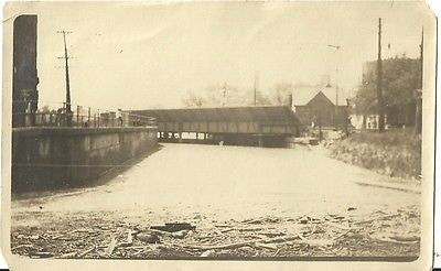 ANTIQUE PHOTO SUBWAY FLOOD 1916 OUT DOOR PHOTO SEPIA - Back from the dead antiques