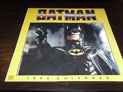 1990 BATMAN CALENDAR UN USED MICHAEL KEATON JACK NICHOLSON BATMAN - Back from the dead antiques