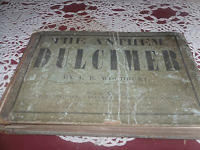 1856 antique DULCIMER CHURCH CHOIR piano sacred music ANTHEMS,CHANTS,TUNES - Back from the dead antiques