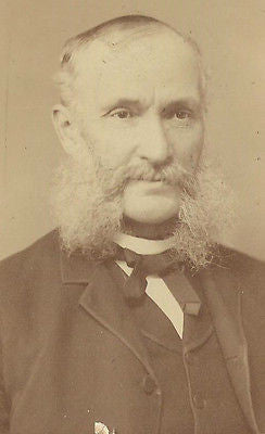 CABINET PHOTO GENTLEMAN HUGE THICK MUTTON CHOP SIDE BURNS CHARLES VANDERSLICE - Back from the dead antiques
