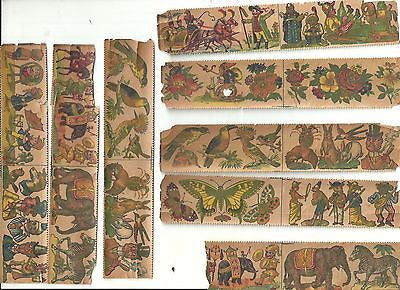 ANTIQUE CHILDREN'S TOY VICTORIAN LITHOGRAPH STAMPS PRINTS PEOPLE ANIMALS 1870'S - Back from the dead antiques