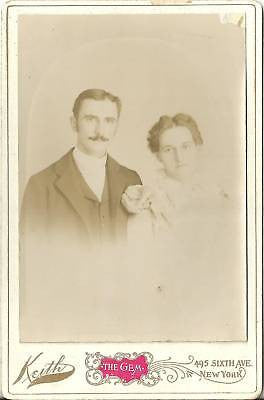 CABINET PHOTO BEAUTIFUL YOUNG HUSBAND & WIFE POSING - Back from the dead antiques