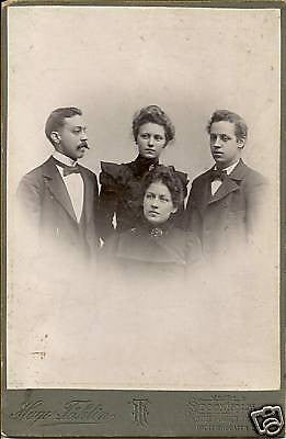 ANTIQUE VICTORIAN CABINET PHOTO OF FAMILY OF 4 SWEDAN - Back from the dead antiques