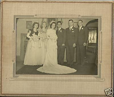 ANTIQUE  PHOTO WEDDING GROOM BRIDE  VERY NICE  PHOTO - Back from the dead antiques