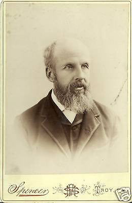 ANTIQUE VICTORIAN CABINET PHOTO MAN WITH  BEARD TROY PA - Back from the dead antiques