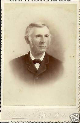 ANTIQUE VICTORIAN CABINET PHOTO OLDER MAN POSINGTROY PA - Back from the dead antiques