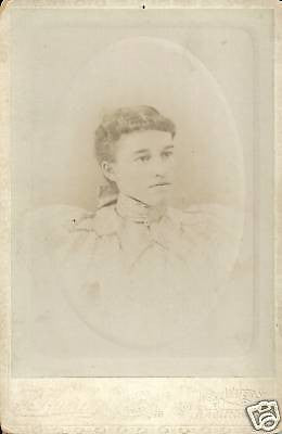 ANTIQUE VICTORIAN CABINET PHOTO LOVELY WOMAN ELMIRA NY - Back from the dead antiques