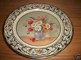ANTIQUE DECRORATIVE FLORAL PLATE DAHER WARE Md HOLLAND - Back from the dead antiques