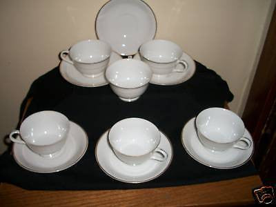 ANTIQUE FINE CHINA OF JAPAN CUP & SAUCER SET OF 6 CHINA - Back from the dead antiques