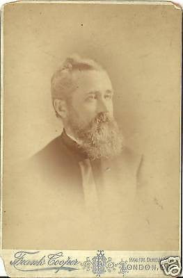 CABINET PHOTO GENTLEMAN GRANDPA FLETCHER NICE BIG BEARD - Back from the dead antiques