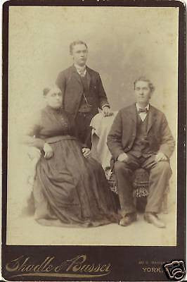 CABINET PHOTO BLIND MOTHER  FATHER SITTING SON STANDING - Back from the dead antiques