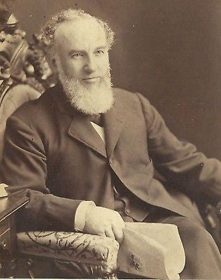 CABINET PHOTO GENTLEMAN THICK WHITE BEARD READING PAPER - Back from the dead antiques