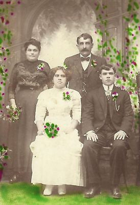 CABINET PHOTO BEAUTIFUL WEDDING DAY GROOM & BRIDE - Back from the dead antiques