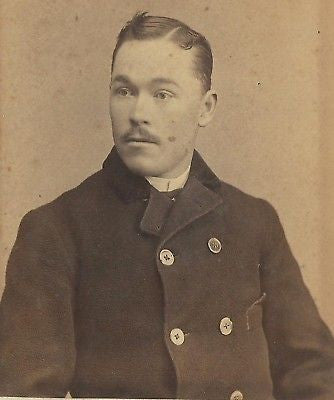 CABINET PHOTO VERY HANDSOME GENTLEMAN ELMIRA NEW YORK - Back from the dead antiques