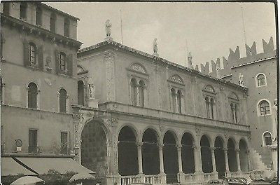 ANTIQUE PHOTO CITYSCAPE ARCHITECTURE BUILDINGS VERONA ITALY - Back from the dead antiques