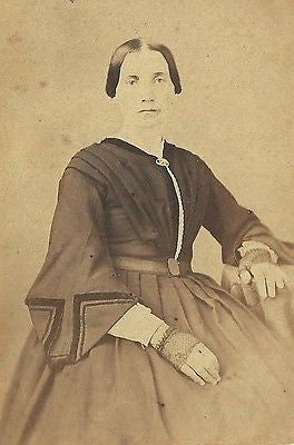CDV PHOTO VICTORIAN WOMAN LARGE DRESS CWE TAX STAMP