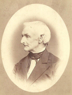 CABINET PHOTO ELDERLY GENTLEMAN THIN FACE WHITE HAIR LEIVIS PARSONS ID'D - Back from the dead antiques
