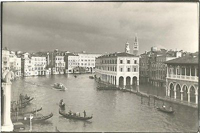 ANTIQUE PHOTO CITYSCAPE ARCHITECTURE BUILDINGS GONDOLA BOATS - Back from the dead antiques