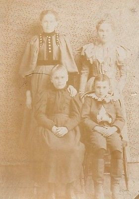 CABINET PHOTO CHARMING GROUP OF YOUNG VICTORIAN CHILDREN BROTHER & 3 SISTERS - Back from the dead antiques