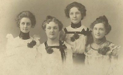 CABINET PHOTO BEAUTIFUL YOUNG WOMEN POSING MANCHESTER - Back from the dead antiques